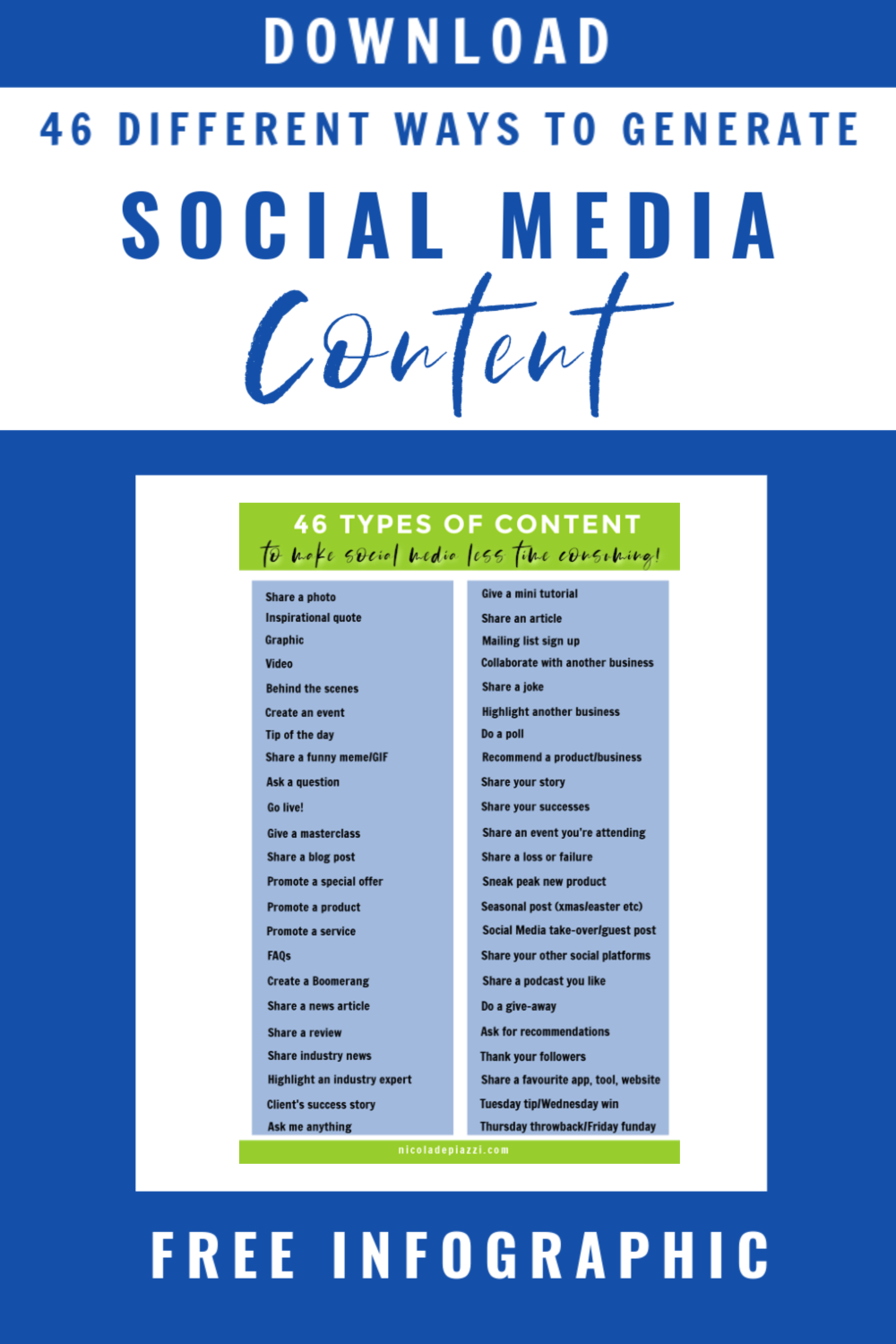 46 ways to generate content