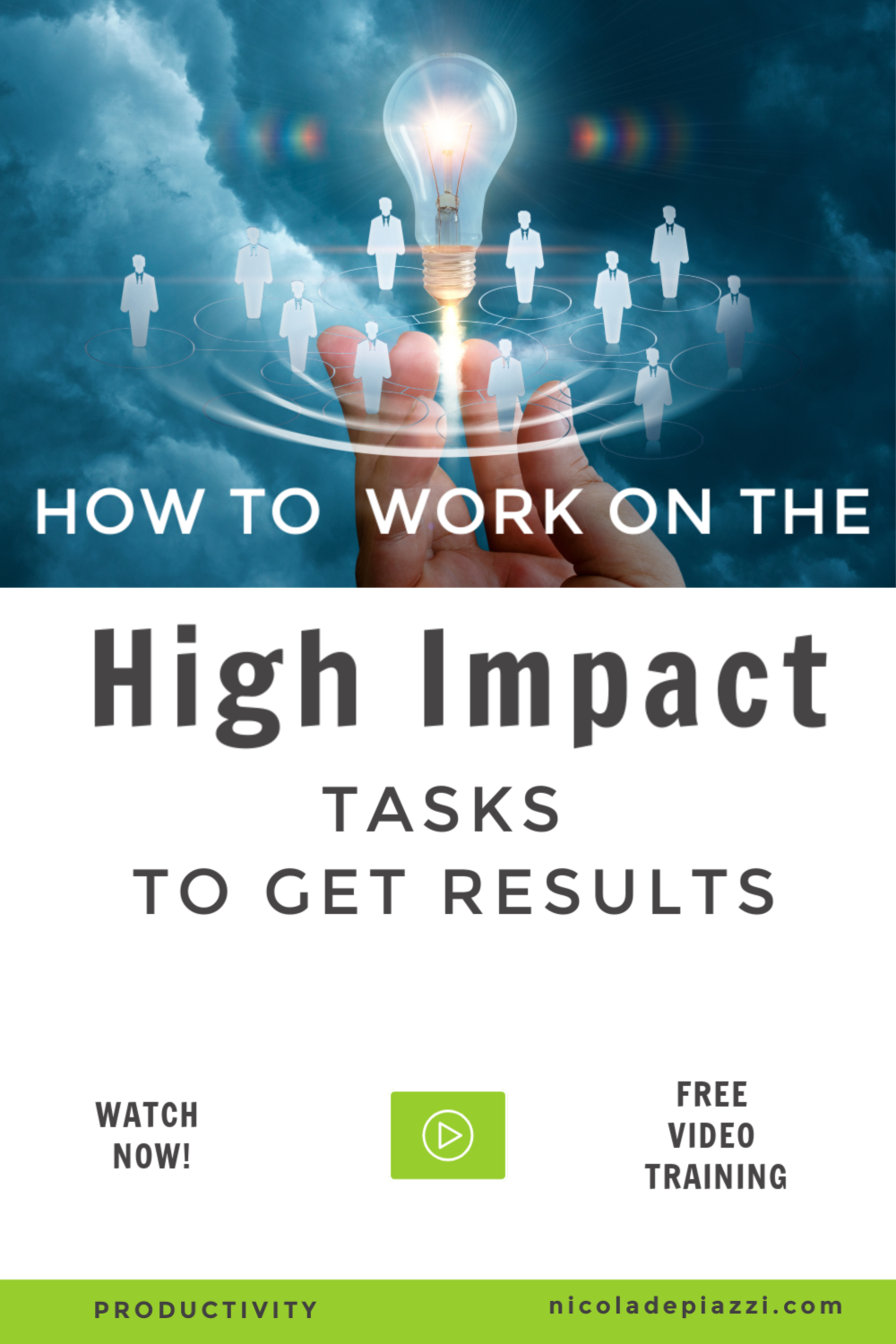 how to work on your high impact tasks
