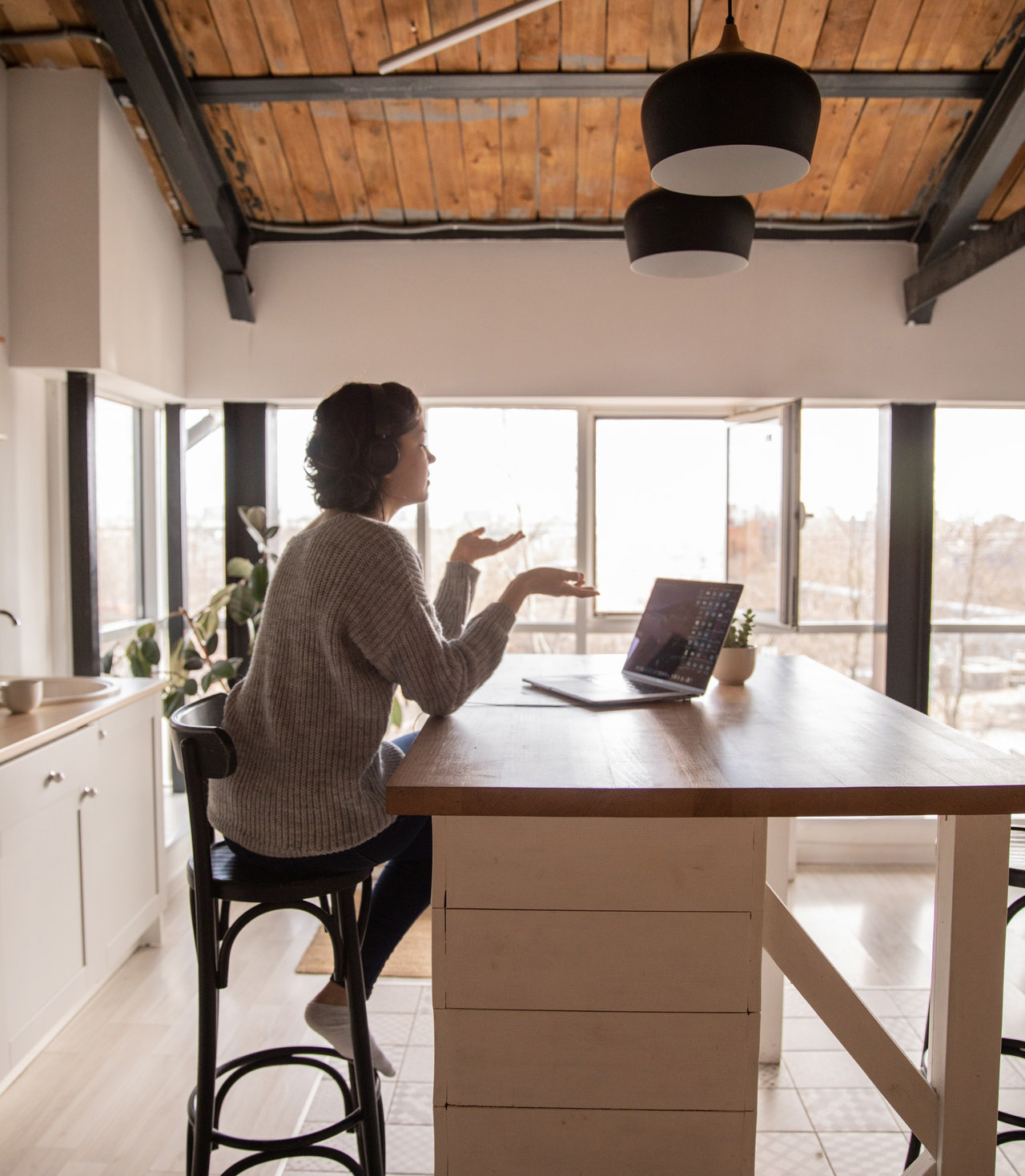 female business owner small business working from home